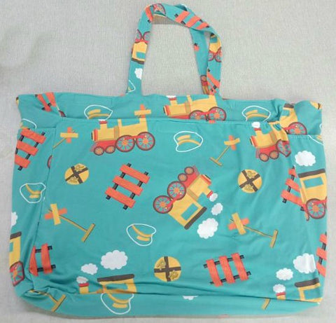 DISCONTINUED CHOO-CHOO TRAIN Extra Large Diaper Bags by kouhai kitten Clearance