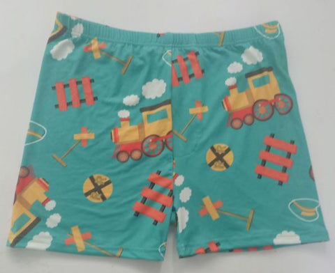 DISCONTINUED Choo-Choo Train Shorts DESIGNED BY KEROKEROKOUHAI Clearance