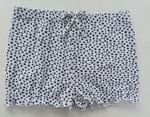 Discontinued White with Black Stars Bloomers Shorts Clearance xs - s - m - l only