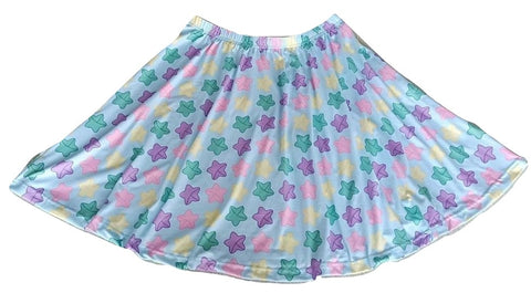 DISCONTINUED Lucky Stars Skaters Skirt DESIGNED BY KEROKEROKOUHAI Clearance xs & s only