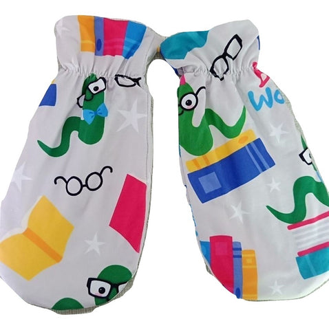 DISCONTINUED Lil Book Worm Matching Mittens CM110 Clearance
