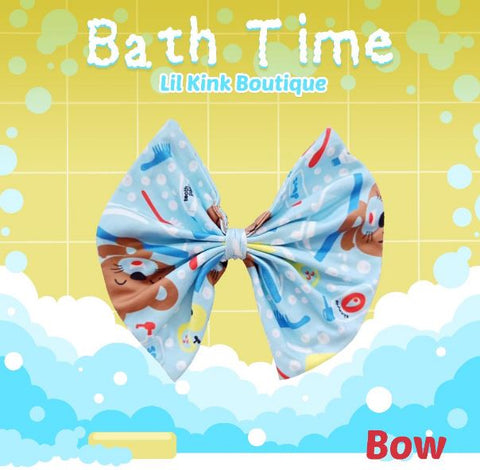 BATH TIME MATCHING Boutique Fabric Hair Bow FHB142 Clearance
