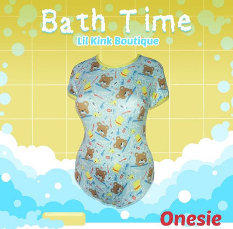 Short Sleeve Bath Time Onesie Sizes xs-4x * New Size Chart *
