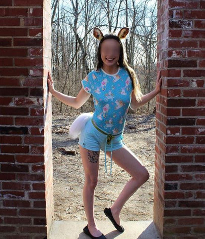 Discontinued Short Sleeve Easter Bunny Onesie Clearance xs only