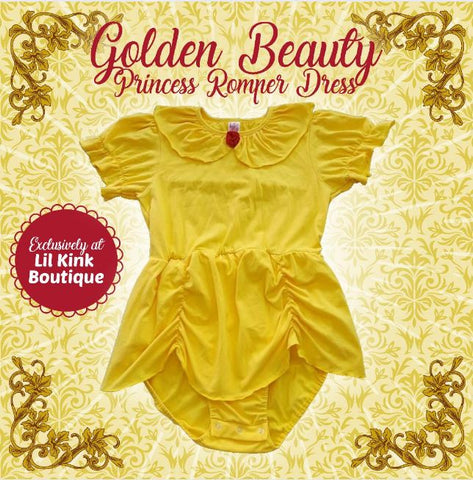 Romper Dress Discontinued Golden Beauty Princess Romper Dress Clearance
