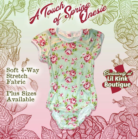 Short Sleeve A TOUCH OF SPRING Onesie size xxs - 3x* New Size Chart