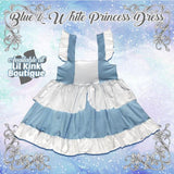 Dress Discontinued Princess Blue & White Summer Dress Clearance NO M,L,XL,2X,3X