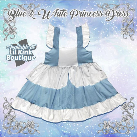 Princess Blue & White Summer Dress
