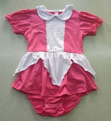 Pink and White Princess Romper Dress Clearance only sizes xxs & xs