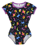 ONESIE DISCONTINUED Abstract Rainbow Halloween Onesie Bodysuit Waist has elastic CLEARANCE