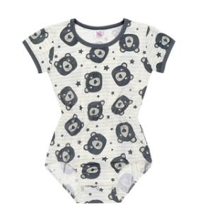 ONESIE DISCONTINUED Lil Bear Onesie Bodysuit Waist has elastic CLEARANCE