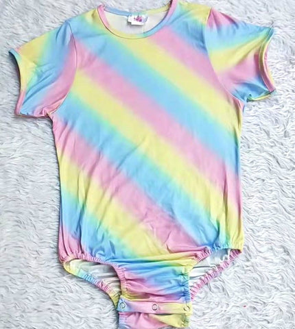 ONESIE DISCONTINUED LIL RAINBOW Onesies Bodysuit CLEARANCE