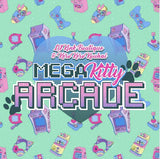 Mega Kitty Arcade Gamer Matching 2pc Bib Mittens Sets