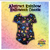 New ABSTRACT RAINBOW HALLOWEEN Onesie