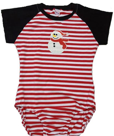 DISCONTINUED Short Sleeve Lil Snowman Cotton Onesie CLEARANCE