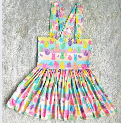 DISCONTINUED Suspender Easter Bunny Jumper Skirt Dress Clearance xxs - xs only