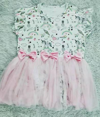 ROMPER DRESS DISCONTINUED MAGICAL UNICORN Tutu Clearance XXS - XS - S - M only
