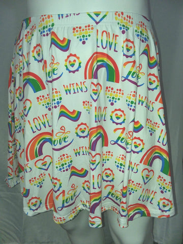 DISCONTINUED Love Wins Skaters Skirt Clearance xs & s only