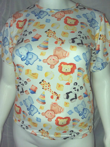 DISCONTINUED Diaper Shirt Play Time CLEARANCE xs only