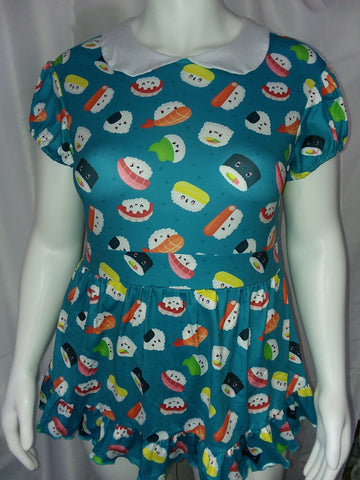 COLLAR LIL SUSHI BABY WITH PETER PAN STYLE COLLAR Romper Dress