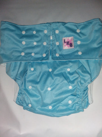 Blue Plain Pocket Diaper
