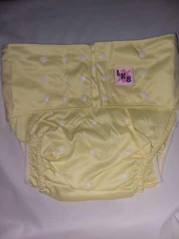 Light Yellow Plain Pocket Diaper