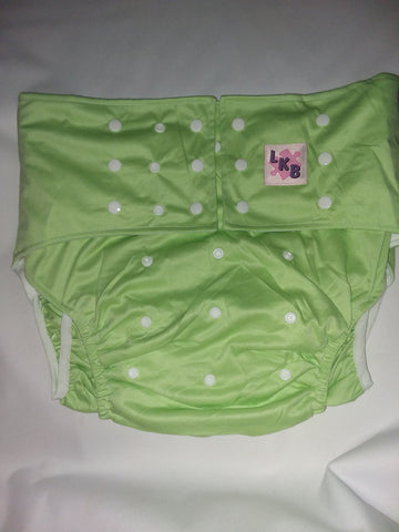 Mint Green Plain Pocket Diaper