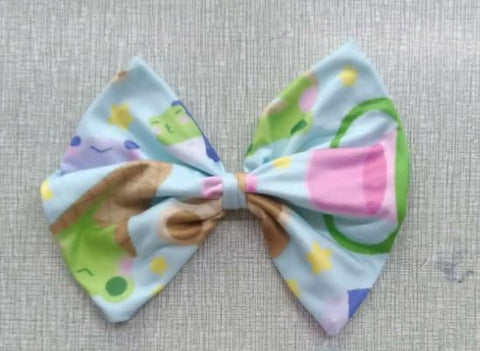 "Froggie Treats Matching LARGE 6"" HAIR BOW DESIGNED BY KEROKEROKOUHAI"