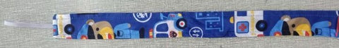 First Responders Matching Fabric Pacifier Clips - 17""