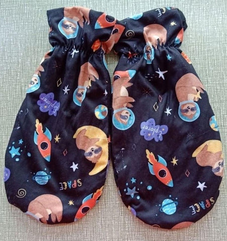 Sloths in Space MATCHING MITTENS