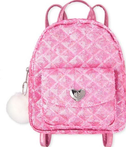 Sequin Quilted Mini Backpack