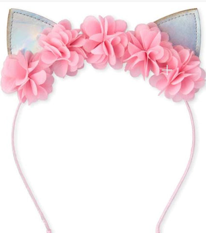Flower Light Up Cat Ears Headband Boutique Head Band