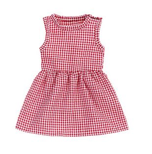 SEERSUCKER Doll Matching Outfit Dress red