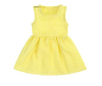 SEERSUCKER Doll Matching Outfit Dress yellow