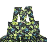 DISCONTINUED Suspender Shades of Cannabis Jumper Skirt Dress Clearance
