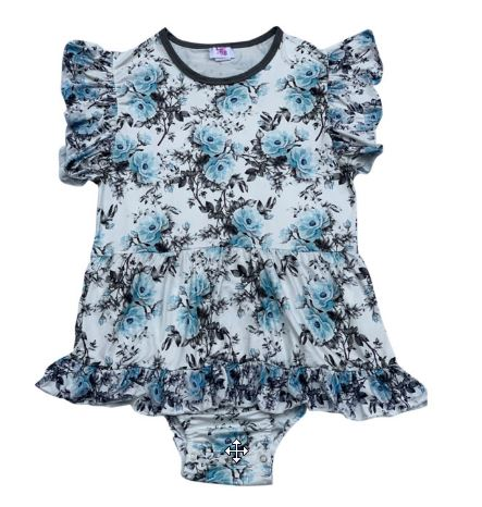DISCONTINUED My Delicate Flower Romper Bodysuit Dress CLEARANCE xxs - xs - s only