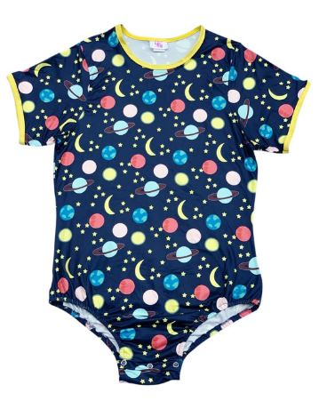 DISCONTINUED Short Sleeve Lil Space Baby Onesies Clearance xxs only