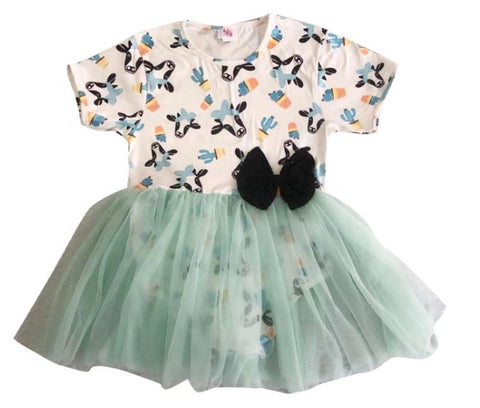 DISCONTINUED Moo Moo Cow Tutu Romper Dress CLEARANCE xs & s only