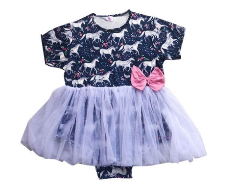 DISCONTINUED Princess Unicorn Tutu Romper Dress CLEARANCE xxs & xs only