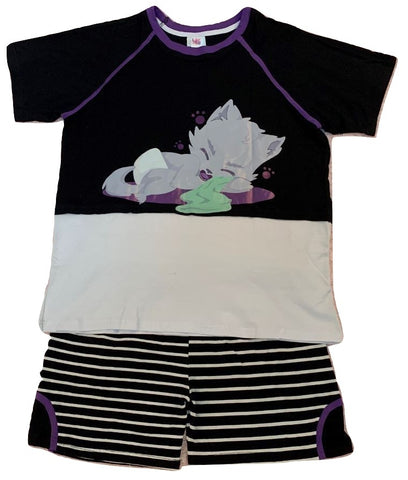 TINY TERRORS Lil Wolfy 2pc Shirt & Matching Shorts Set DESIGNED BY KEROKEROKOUHAI