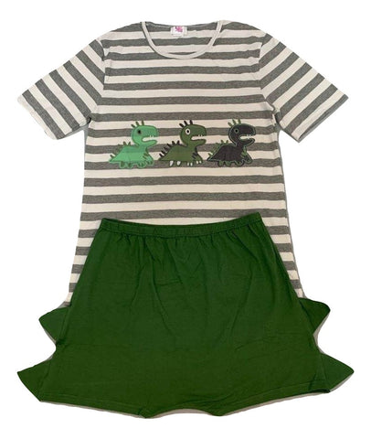 Baby Dinosaurs 2pc Shirt & Matching Shorts Outfit