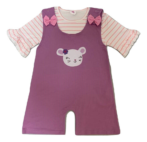 Lil Mouse 2pc Shirt & Matching Romper Set Outfits