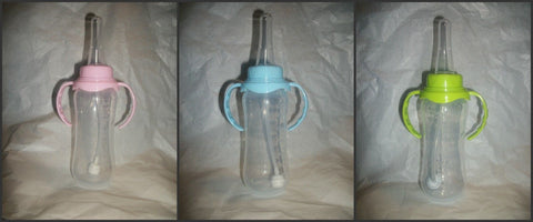 Nursing Bottle with removable handles and large adult silicone teat
