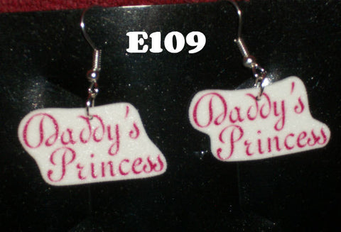 Daddy's & Mommy's Princess Lil One Hand Crafted Earrings