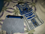 Men's Superman - Captain America - R2D2 2pc pajamas SET