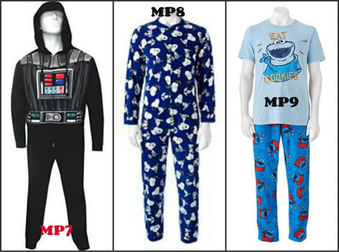 Men's Star War's -Snoopy Union Suit Sleeper Cookie Monster pajamas Set - Cosplay