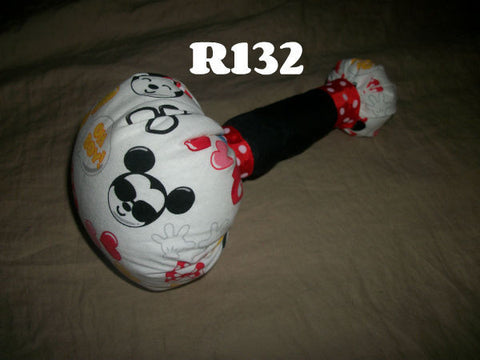 Adult Fabric Rattle R132 MOUSE 9.5""