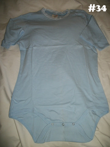 New Light Blue Solid Color Onesie #34