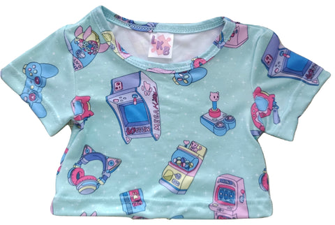 MEGA KITTY ARCADE GAMER Stuffy Matching Shirt