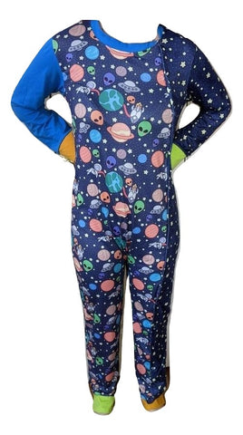 Lost In Space 1pc Side Snap Sleep 'N Play Pajamas Designed by @littlepastelalien